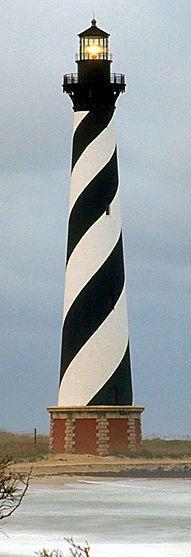 The Outer Banks lighthouse, North Carolina, USA #Lighthouses