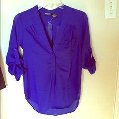 NWOT cobalt blue three quarters sleeves blouse Brand new ALLOY Tops Blouses