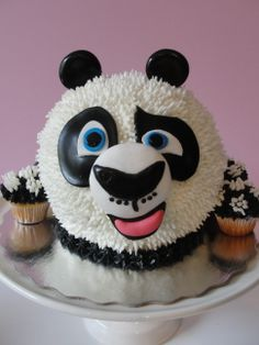 These 17 cool Kung Fu Panda party ideas will help you. Try your hand at making panda cupcakes or DIY Kung Fu Panda masks and Kung Fu Panda Cake, Panda Cakes, Sweet Cakes, Cute Cakes, Beautiful Cakes, Amazing Cakes, Panda Birthday, Panda Party, Animal Cakes