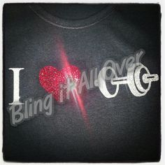 I ❤working out / lifting weights / crossfit rhinestone bling shirt Blingitallover@gmail.com www.facebook.com/Blingitallover