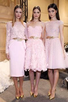 Backstage at Zuhair Murad Haute Couture Spring 2014 #SS14 www.blueisinfashionthisyear.com