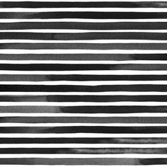 """Fine Black Watercolor Stripes by Friztin - 0.35"""" wide stripes / 0.15"""" space in between"""