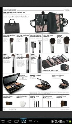 Mary Kay make-up brushes, love these!I use Mary Kay get your products here:  http://www.marykay.com/cfasulka