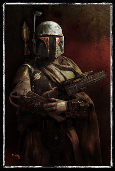 Star Wars portraits by Tariq Raheem