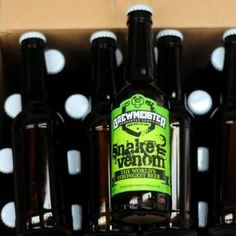 World's strongest beer, Snake Venom from Scotland's craft brewers, Brewmeister, is brewed to 67.5% abv, stronger than most cask-strength whiskies.. it comes with a warning on the label telling drinkers not to have more than one of the beers in a sitting. It's not cheap...apparently a 275ml bottle costs £50 and contains 2025 calories. Looks like you can get drunk ,broke and fat in just one go..