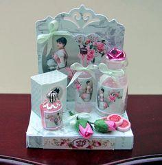 English Rose Perfume Display; 1/12 scale