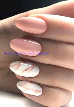 145 Beautiful marble nails - design ideas to try .- 145 Beautiful marble nails – design ideas to try at home See EVERYTHING at Lovika – it ideas - Marble Nail Designs, Marble Nail Art, Acrylic Nail Designs, Nail Art Designs, How To Marble Nails, Marble Nail Polish, Stone Nail Art, Water Marble Nails, Nude Nails