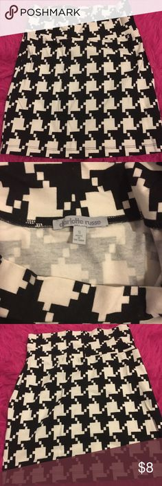 B&W Mini Skirt Never worn before! Very cute & stylish Charlotte Russe Skirts Mini