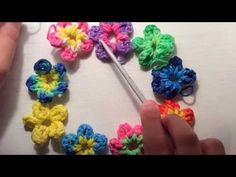 ▶ How to make a Flower Charm -With Just Your Hook! (Rainbow Loom) - YouTube