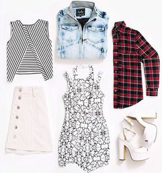 Checkered shirt #flatlay #fashion #ootd