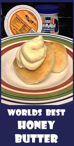 World's Best Honey Butter- (with marshmallow cream!)http://pinterest.com/pin/416371928021331089/