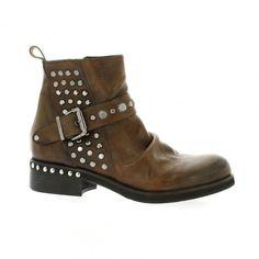 Boots cuir cognac chaussures Curiosity motarde 1014