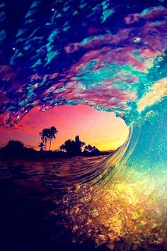 Spectrum of color #oceanwave