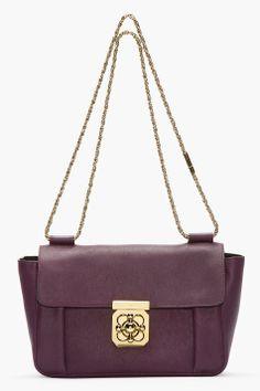 ee8721d3cf9e4a Chloe Medium Purple Pansy Leather Elsie Shoulder Bag for women | SSENSE  $1,240.00 sale Chloe Clothing