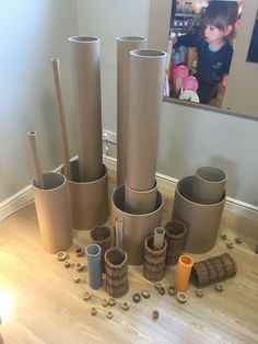 Excellent use of donated materials! Tubes of all kinds come together to create amazing building components. Play Based Learning, Learning Through Play, Early Learning, Reggio Inspired Classrooms, Reggio Classroom, Reggio Emilia, Heuristic Play, Emergent Curriculum, Preschool Garden