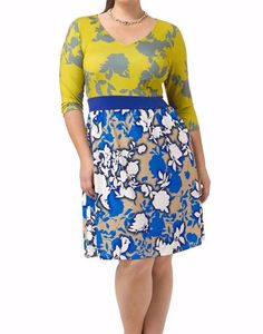 Triste By Gwynnie Bee Mixed Floral Print Chelsea Women Dress Size 1X #Triste #Shift #Casual