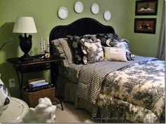 CONFESSIONS OF A PLATE ADDICT Changes in the Toile Bedroom...and...Easy Frenchy Candles