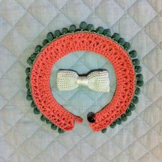 Baby crochet collar with pom-pom lace. (Done!!)  #collar #create #crochet #baby #pompom #lace #vintage #handmade  Handmade by mamakong.