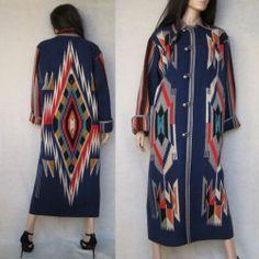 Vintage Chimayo Southwest Coat Duster. WOW!