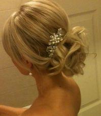 Hair clips in low bun