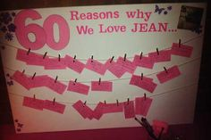 60 reasons why we love you display