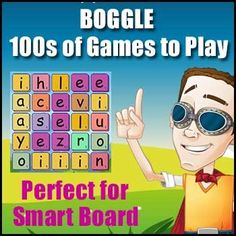 BOGGLE – {Smartboard or Interactive Whiteboard Game} – Create of Games - Animation Whiteboard Whiteboard Games, Whiteboard Video, Interactive Whiteboard, Phonics Games, Spelling Activities, Word Games, Spelling Words, Cvc Words, Boggle