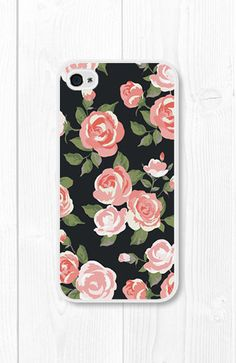 Coral Peach Floral iPhone Case iPhone 4 Case