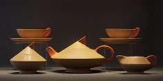 "Art Deco tea set ""Thea"" Edmond Bellefroid, De Sphinx, c.1934 - Netherlands"
