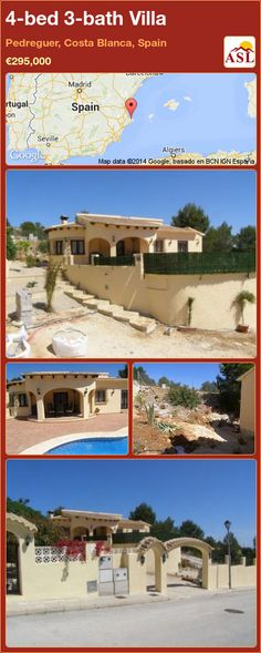 4-bed 3-bath Villa in Pedreguer, Costa Blanca, Spain ►€295,000 #PropertyForSaleInSpain