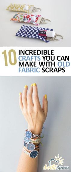 Fabric Scrap Crafts, How to Reuse Old Fabric Scraps, Fabric Scraps Upcycles, Upcycle Projects, Upcycled Crafts, Easy Craft Projects, Fast Craft Projects