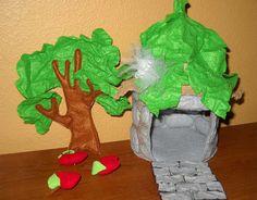 Felt Fairy House and Artificial Tree