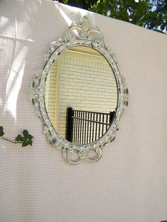 Vintage French Swavorski Princess Mirror  FREE by antique2chic, $165.00