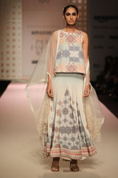 #AIFWSS16 #KavitaBhartia #spring #summer #IndianModern #print #skirt #fall #kurta #strappy #sandals #white #top #dress #skirt #heels #authentic #aesthetic #modest #beautiful #simple #contemporary #design #fashion #grace