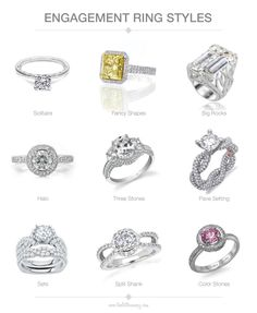 Different Styles Of Wedding Rings 1000 Images About Wedding Ring And Band Basics On