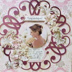 Wedding Album Layout, Wedding Scrapbook Pages, Love Scrapbook, Wedding Photo Albums, Scrapbook Sketches, Scrapbook Page Layouts, Scrapbook Cards, Scrapbooking Ideas, Mini Album Tutorial