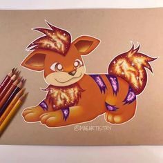 Growlithe by maeartistry