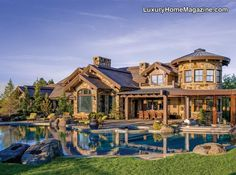 Expansive Cascade Mountain views from Janet Jarvis designed NW style estate on 10+ acres in gated community. This 4-story 15,000 SF custom designed home has finishes unmatched to anything currently offered. Exquisite residence includes living room with soaring beams & fireplace, loft with guest suite, office & sitting  …