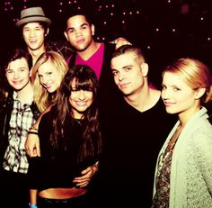 Glee cast ♥  Where's Mercedes? Tina? Santana? Finn?