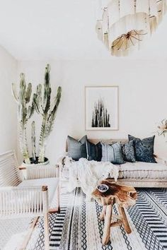 Minimalist home decor minimalist home decor black white and green minimalist living room with cactus decor . minimalist home decor Coastal Living Rooms, Boho Living Room, Living Room Carpet, Living Room Modern, Living Room Designs, Living Room Furniture, Living Room Decor, Bohemian Living, Furniture Stores