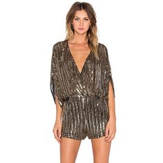 Parker gold sequin shorts romper. Stunning. If you want to stop people in their tracks, put this on your body! It's nothing short of AMAZING. Glitz and glam and sparkle and sexy. A Parker masterpiece. Brand new with tags still attached!! Size small. So so gorgeous. Purchased for $418 + tax Parker Shorts