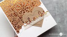 Mango foil from Gina K. Designs foiled and stamped background cards; Craft Foil, Jennifer Mcguire Ink, Deco Foil, Foil Paper, Card Making Techniques, Heart Cards, Winter Cards, Scrapbook Cards, Scrapbooking Ideas