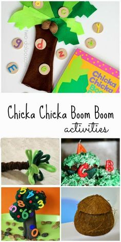 30+ hands on activities to go along with Chicka Chicka Boom Boom