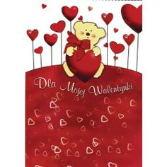 "St. Valentine's Day Hearts Card by Polish Greeting Cards. $5.95. Contains Polish language greeting. Measures 4.5"" x 6.5"". Envelope included. Imported from Poland. Card perfect for St. Valentine's Day. Front of the card reads in Polish ""Dla Mojej Walentynki"" which means ""For my Valentine."" Inside of card reads ""Nie wiem co sie ze mna stalo, wszystko mi sie poMISalo... serce moje oszalalo i sie w Tobie zakochalo!!!"" which means ""I don't know what happened to me, e..."
