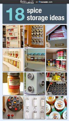 18 Spice Storage Ideas to keep your kitchen under control!