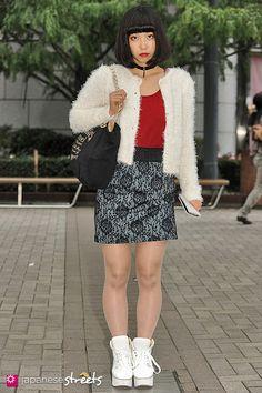 MAKO SUGIMOTO Shibuya, Tokyo AUTUMN 2013, GIRLS Kjeld Duits STUDENT, 18  Cardigan – merry jenny T-Shirt – ZARA Skirt – Glie Shoes – N/A