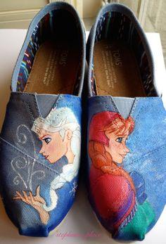 Frozen Toms® // Anna and Elsa shoes