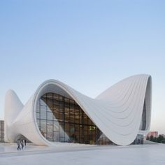 Zaha Hadid's Heydar Aliyev Centre  rises from the landscape in Baku
