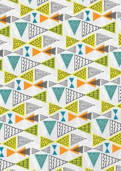 Geometric Mid Century Modern Triangles by Ryan Deighton