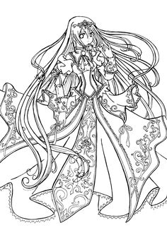 princess coloring pages love the anime this would be cool to embroider - Cool Coloring Book Pages
