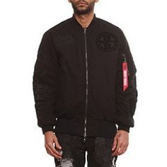clothing: Buy 8&9 Clothing: Ironside Reversible Rip Stop Flight Jacket, Outerwear for Men